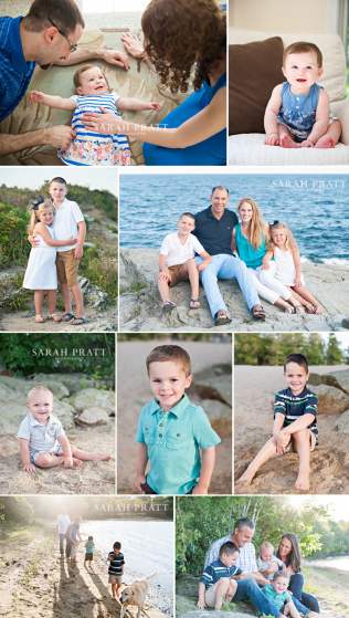 Summer family photography at the beach and in home in MA and RI