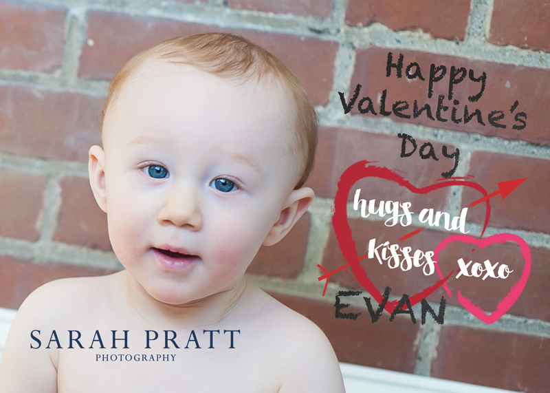 childrens valentines photo greeting