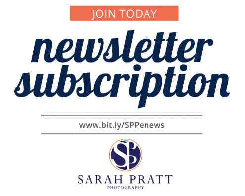 join newsletter list sarah pratt photography