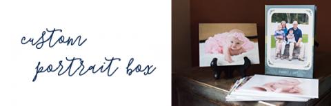 custom portrait box with mounted prints